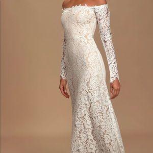 Brand new simple wedding dress